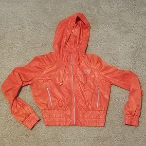 Bebe sport lightweight cropped track jacket